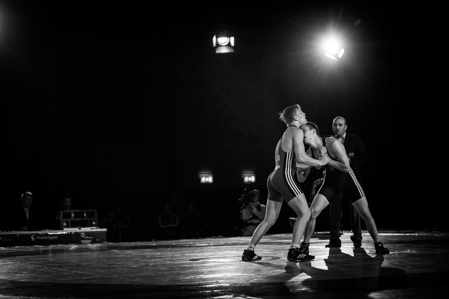 From the national wrestling match between Norway and Hungary in Bodø